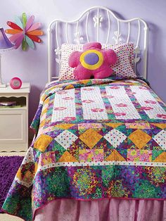 Quilting - Bed Quilt Patterns - Applique Quilt Patterns - Blooming Flowers
