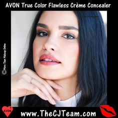 Avon True Color Flawless Crème Concealer. Creamy & breathable, Avon True Color Flawless Creme Concealer... Luxe creamy concealer hides under-eye circles and imperfections, flawlessly. Blends seamlessly for perfect lightweight stay put coverage while looking natural in any light. Available in 13 shades. Reg. $8. FREE shipping with any $40 online Avon purchase, #Avon #CJTeam #Sale #TrueColor #Concealer #CreamConcealer #IdealFlawless #Makeup #Cosmetics #C6 Shop Avon Online @ www.TheCJTeam.com