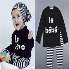 girls clothing sets 2016 autumn baby girl clothing set letter t shirt+stripe pant autumn 2016 kids clothing set for girl clothes