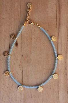 Gypsy coin anklet Turkish jewelry gold filled coin - new season bijouterie Anklet Jewelry, Beaded Anklets, Dainty Jewelry, Cute Jewelry, Jewelry Crafts, Beaded Jewelry, Gold Jewelry, Handmade Jewelry, Beaded Bracelets