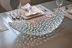 Fused glass bowl, platter, glass dish