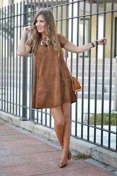 FAUX SUEDEN DRESS | Mi aventura con la moda #kissmylook