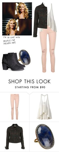 """""""Caroline Forbes - tvd / the vampire diaries"""" by shadyannon ❤ liked on Polyvore featuring rag & bone/JEAN, One Teaspoon, The Gem Palace, H&M and INC International Concepts"""