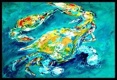 By Chance Crab in Aqua Doormat