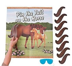 Pony party game - Pin the tail on the horse players) Horse Birthday Parties, Cowgirl Birthday, Cowgirl Party, Birthday Party Games, 4th Birthday, Birthday Ideas, Free Birthday, Cowboy Birthday Games, Cowboy Party Games