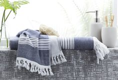 Marmara towels are the perfect lightweight, quick-dry towel; generously sized for use in the bathroom, beach or poolside. Made in Turkey from the finest grade Turkish cotton, this versatile towel is ideal for use in summer. Hand Towel Sets, Bath Sheets, Turkish Towels, Style Challenge, Midnight Blue, Bath Towels, Light Blue, Blanket