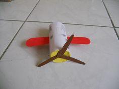 letadlo - z ruličky od toaletního papíru