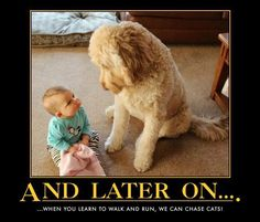 Baby and Dog... too cute!