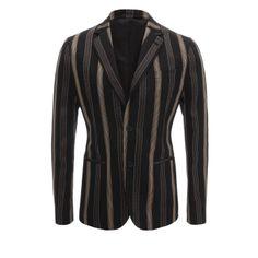 Stripe Jacquard Deconstructed Jacket (Alexander McQueen)