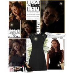 Elena Gilbert - 6x15 by iced on Polyvore featuring Diane Von Furstenberg, Giuseppe Zanotti, Bobbi Brown Cosmetics, MAC Cosmetics and Dolce&Gabbana