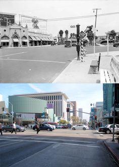 Looking east on Wilshire Boulevard from Western Avenue, 1926-2013