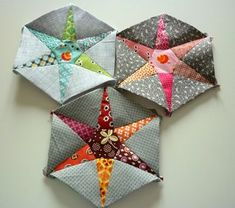 Hexiestars .. oohhh ... I LOVE this! easy directions and PDF pattern