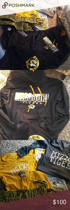 Don't purchase Mizzou clothing bundle or separate I don't have the time to individually list each item so I'm putting it all on this & if there's something that interests you I can make a separate one of that item to show it to you individually or paired up with another item sizes range in everything as does brand. Sweats. Shirts. Hoodies. Zipper hoodies. Scarves. You name it please ask questions I'm happy to assist any way I can thank you. Please just let me know what you'd like to see and…