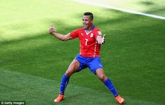 Not so fun: Sanchez's celebration was rather more PG on the pitch than the journsalist's o...