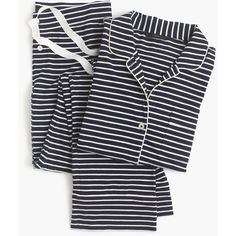 J.Crew Dreamy Cotton Pajama Set (€84) ❤ liked on Polyvore featuring intimates, sleepwear, pajamas, j crew pajama set, j crew sleepwear, j crew pyjamas, j.crew pajamas and cotton pajamas