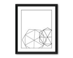 Abstrait art triangle Geoemtric Geoemtric affiche par Wallzilla