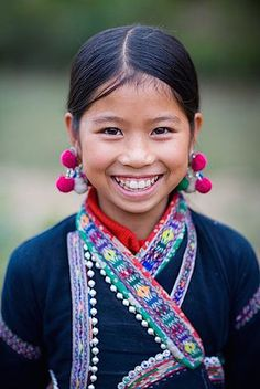 "Sa Pa, Vietnam:: ""A child's smile is like a ray of sunshine on a cloudy day."" — Unknown [pinned by PartyTalent.com]"