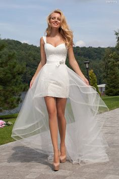 Vestidos de novia cortos de enfrente