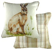 Hare Piped Country Cushion