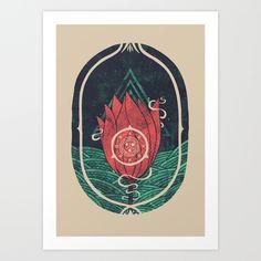 Pulsatilla+Patens+Art+Print+by+Hector+Mansilla+-+$18.00