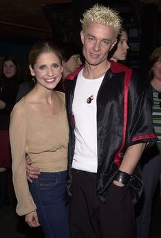 Sarah Michelle Gellar and James Marsters.  I am so looking forward to meeting this man at Cardiff Film and Comic Con this March 2015!