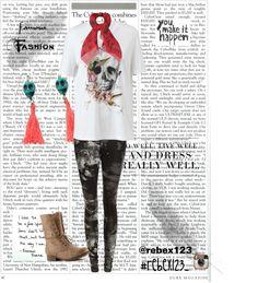 """Skulls"" by isasada ❤ liked on Polyvore"