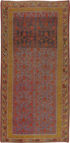 Antique Khotan Carpet 6ft. 2in. x 12ft. 10in. - Galerie Shabab