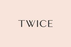 Calligraphic logotype for Chinese luxury accessory brand Twice by London based graphic design studio Socio Design