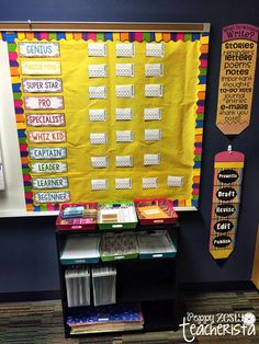 Classroom Reveal! Links to tons of freebies and organizational tips! FREE super improver wall!