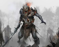 My Fantasy World, New Fantasy, Dark Fantasy, Fantasy Races, God Of War, Keys Art, Monster Art, Fantasy Monster, Norse Mythology
