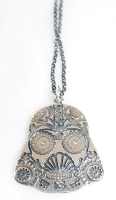 Darth-Vader-Mexican-Skull-Pendent-Necklace-Ancient-925-Sterling-Silver-Plated