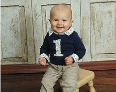Baby Boy First Birthday Outfit First Birthday by BrimmerBoys