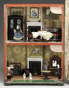 Image result for antique silber and fleming dolls house original papers