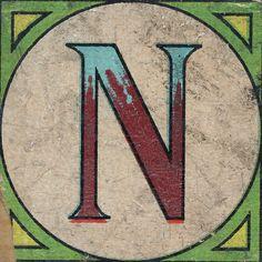 Vintage Brick Letter N | Flickr - Photo Sharing!