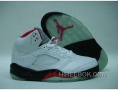 buy popular 5c398 37a28 Air Jordan Retro 5 2000 White Black Fire Red Vente En Ligne, Price   65.00  - Reebok Shoes,Reebok Classic,Reebok Mens Shoes