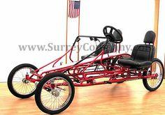 four (4) wheel, four (4) two (2) person Surrey bike bicycle quadricycle