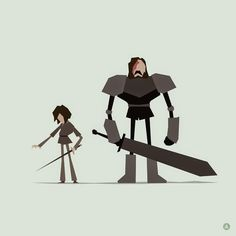 Illustrations minimalistes de Game of Thrones de Jerry Liu ~ Le Bouquinovore