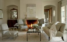 Formal living room in neutrals ~ so classic and beautiful.