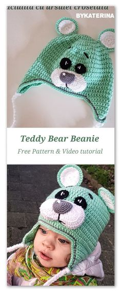 Watch This Video Incredible Crochet a Bear Ideas. Cutest Crochet a Bear Ideas. Crochet Bear Hat, Crochet Animal Hats, Crochet Baby Hat Patterns, Crochet Kids Hats, Crochet Beanie Pattern, Crochet Teddy, Crochet Dolls, Free Crochet, Booties Crochet