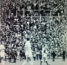 Celtic 3 Hibernian 5 in August 1972 at Hampden Park in the Drybrough Cup Final. Violence takes hold on the terraces.