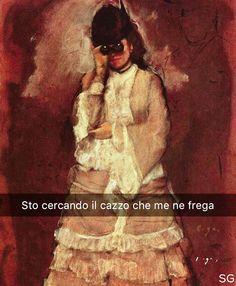 Snapchat: stefanoguerrera Donna con gli occhiali per l'opera - Edgar Degas (1875) #seiquadripotesseroparlare #stefanoguerrera
