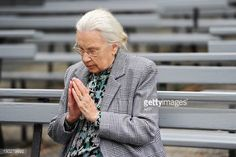 04-08 Gilberte Degeimbre prays during a visit to the Virgin Mary... #beauraing: 04-08 Gilberte Degeimbre prays during a visit… #beauraing