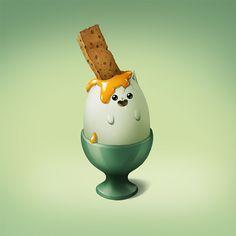 cute art - huevo palet