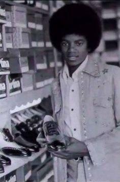 MJ shoe shopping