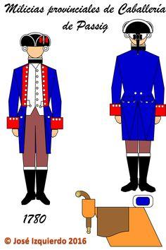 Milicias disciplinadas de Caballería de Passig,  1780