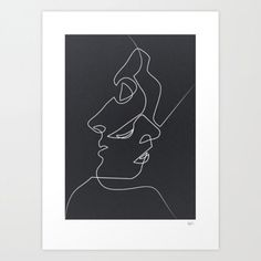 """weandthecolor:  """" Close Noir – Quibe Drawings created with simple lines by French illustrator Quibe. Find more on WE AND THE COLOR or buy them on Society6.  Follow WE AND THE COLOR on:  Facebook I Twitter I Pinterest I YouTube I Instagram  """""""