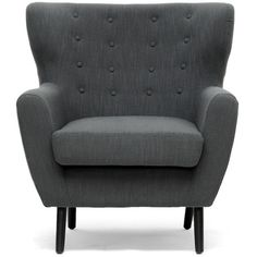 Newington Arm Chair in Charcoal $344