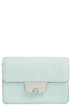 Milly 'Mini Astor' Pebbled Leather Crossbody Bag available at #Nordstrom
