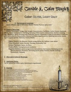 Candle Magick - Silver & Grey  - The Witch of Blackbird Pond - Page 3