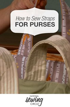 Make any #purse or #bag easy to grab-and-go by adding stiffness to the straps so…